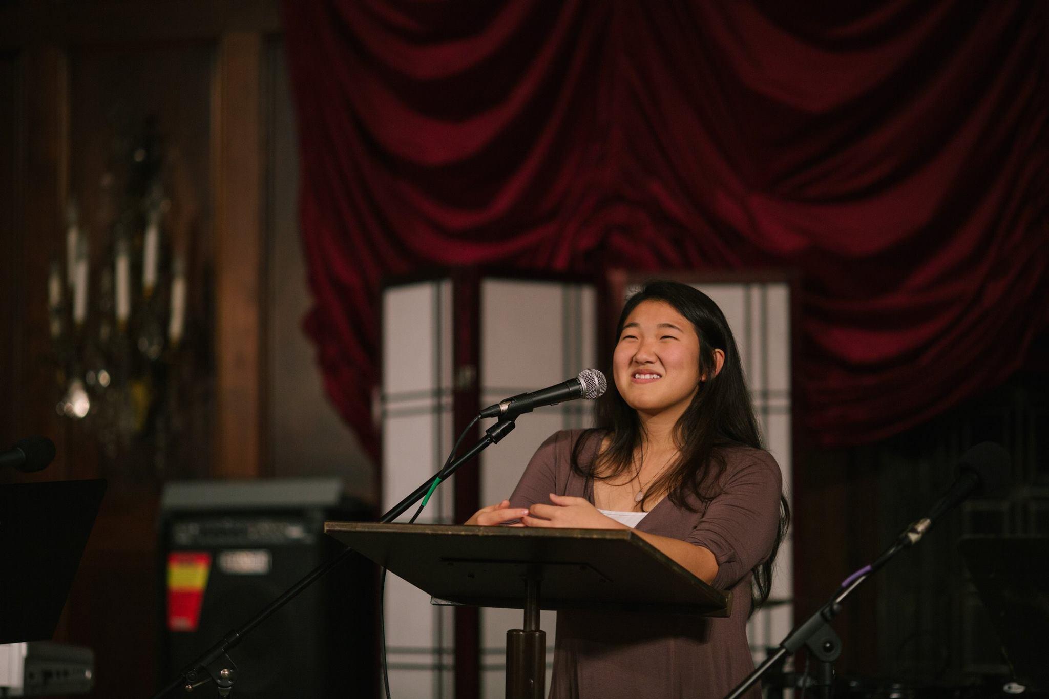 Kimi Kim sharing her experience with CARP.