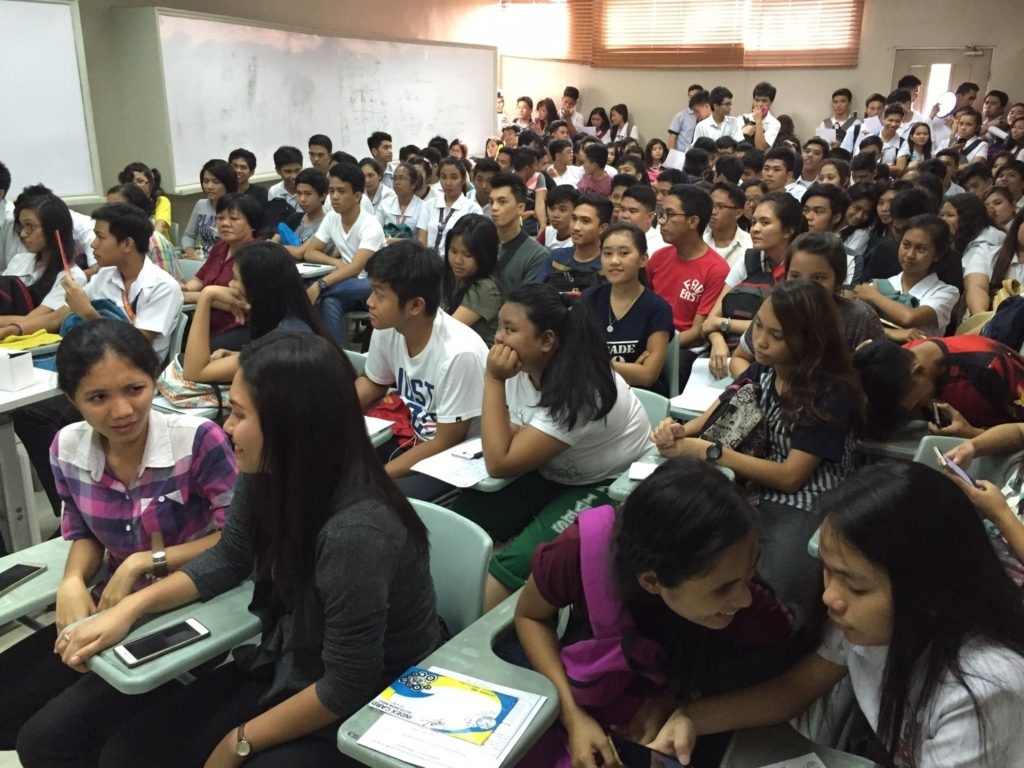 155 students showed up for the orientation (some even had to stand in the back) to find out more about CARP
