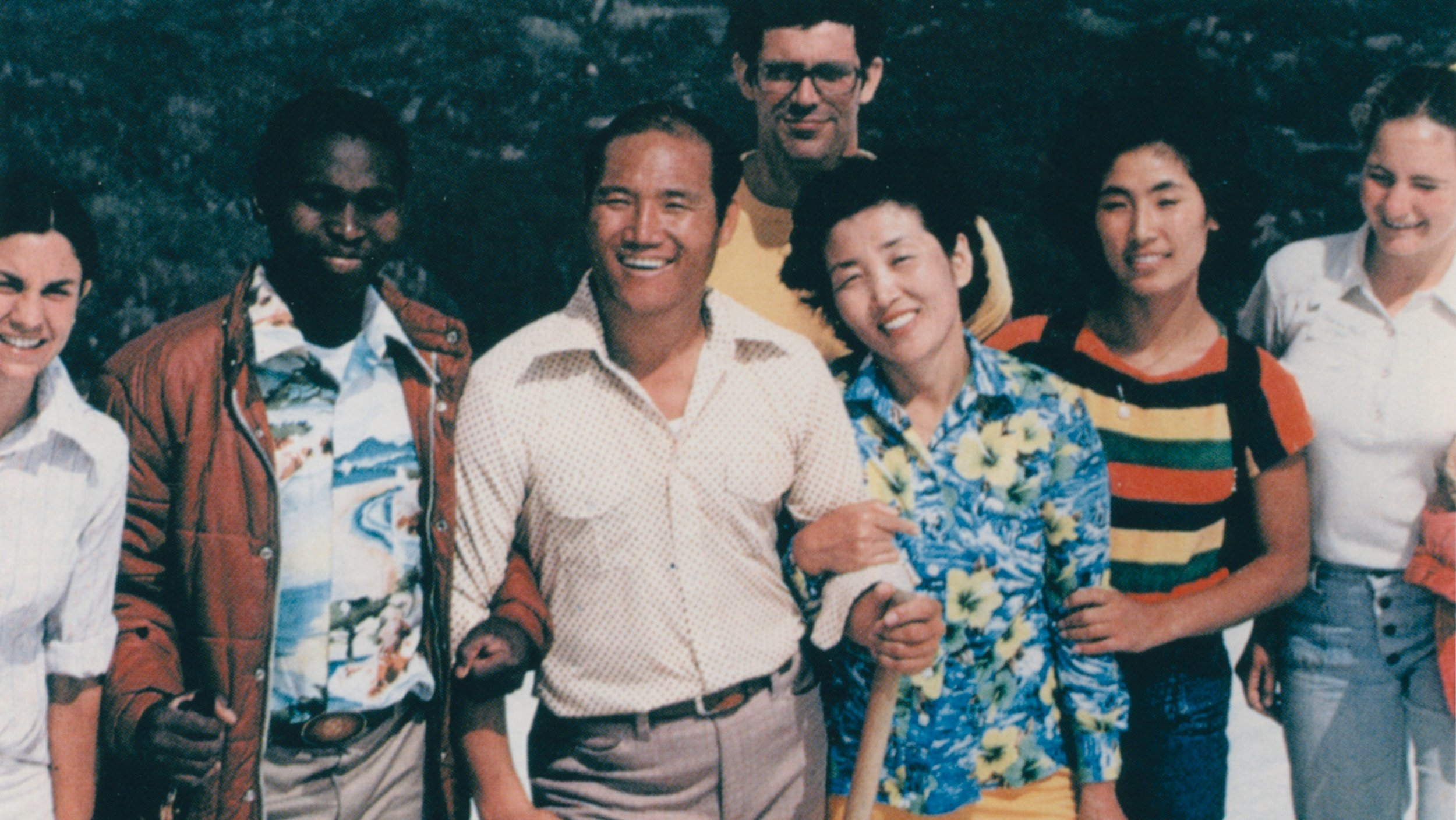 Tiger Park and Mrs. Park with members in Colorado in 1981.
