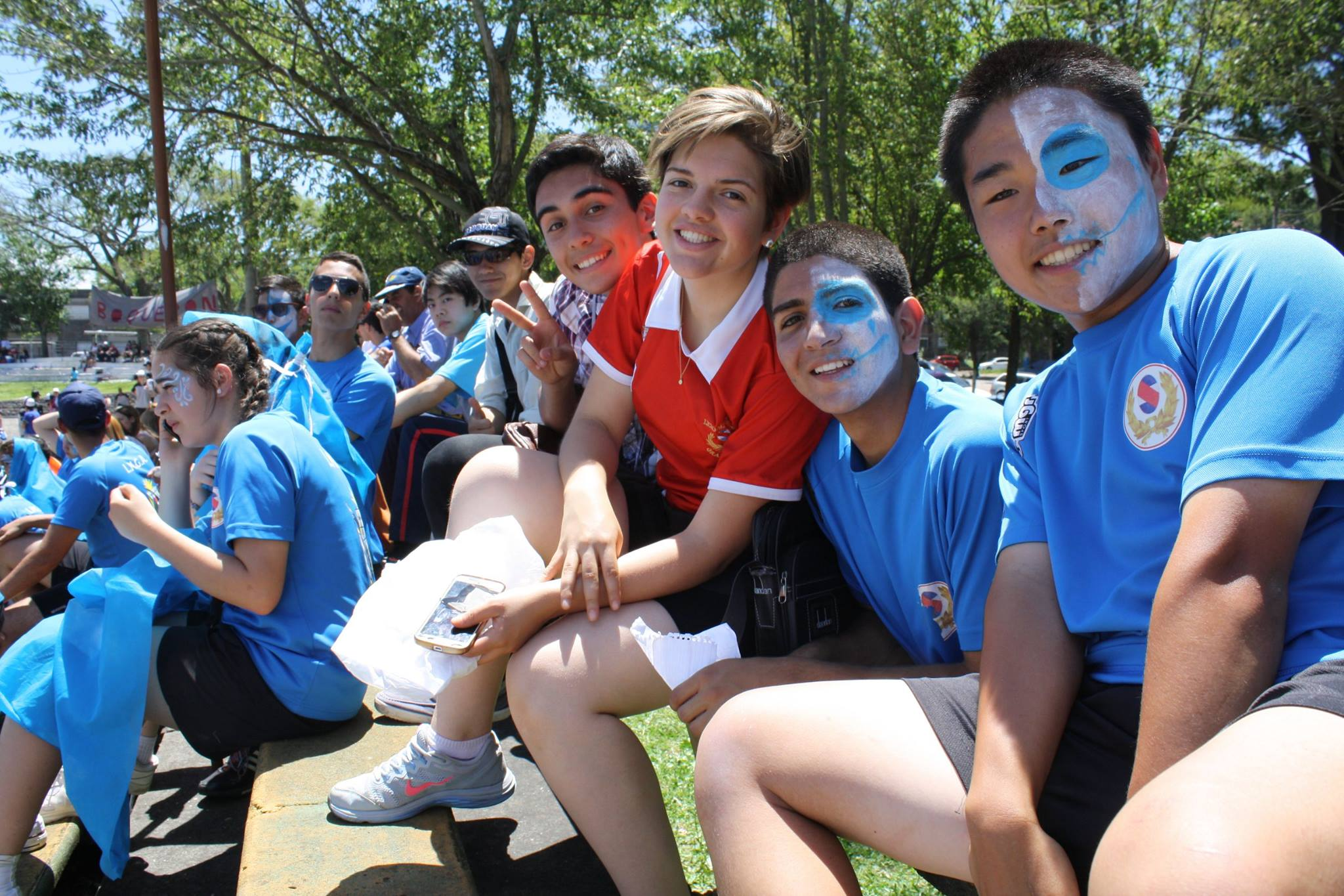 Me (middle), my brother (right of me), and other 2nd generation at Militar High School Festival.