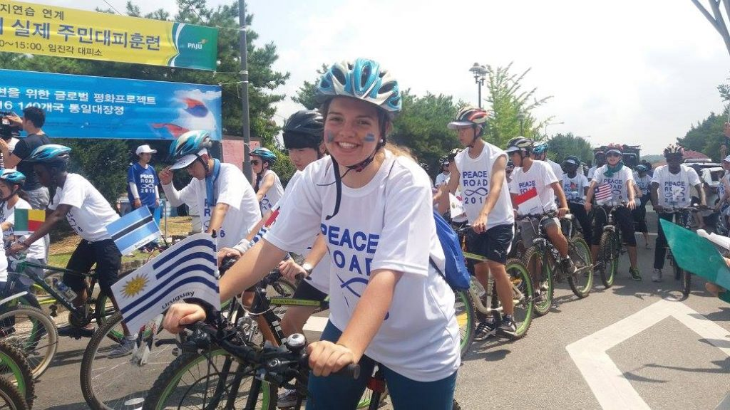 Me on the Peace Road in Korea where I had the pleasure of representing my country.