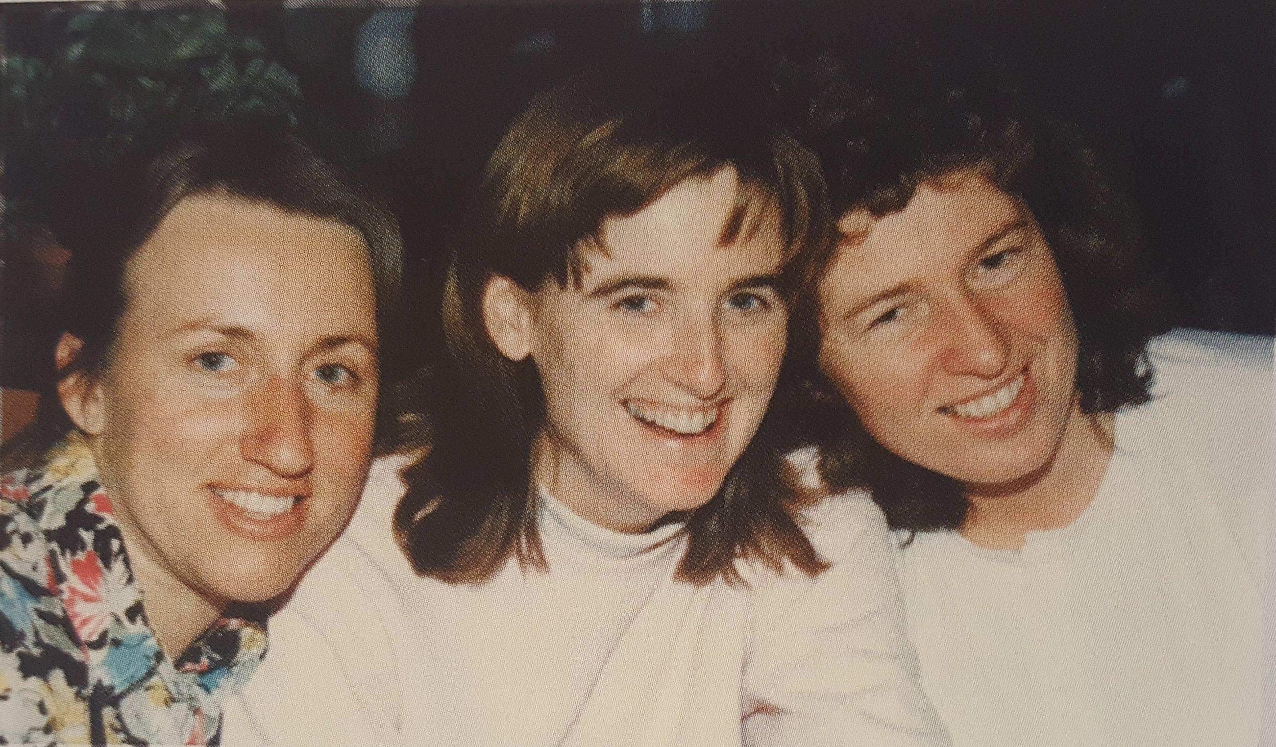 Christine (center) with Carol Durnan and Jacinta Krefft.