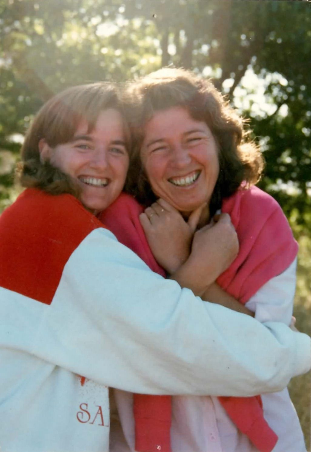 Christine and Jacinta (from earlier photo) – 'moms' for N. California witnessing 1980s.
