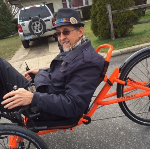 """Greg Davis on one of his """"trikes."""" You can see his business at www.yourtrikespirit.com"""