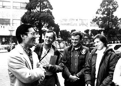 Dr. Seuk, Lowell Ellanson and Malinda Vogel in S. Korea