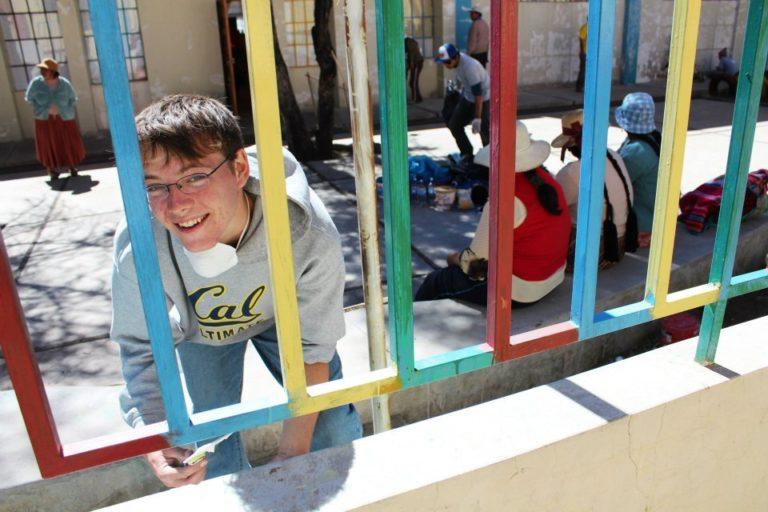 Jinil doing community service work in Peru on GPA.