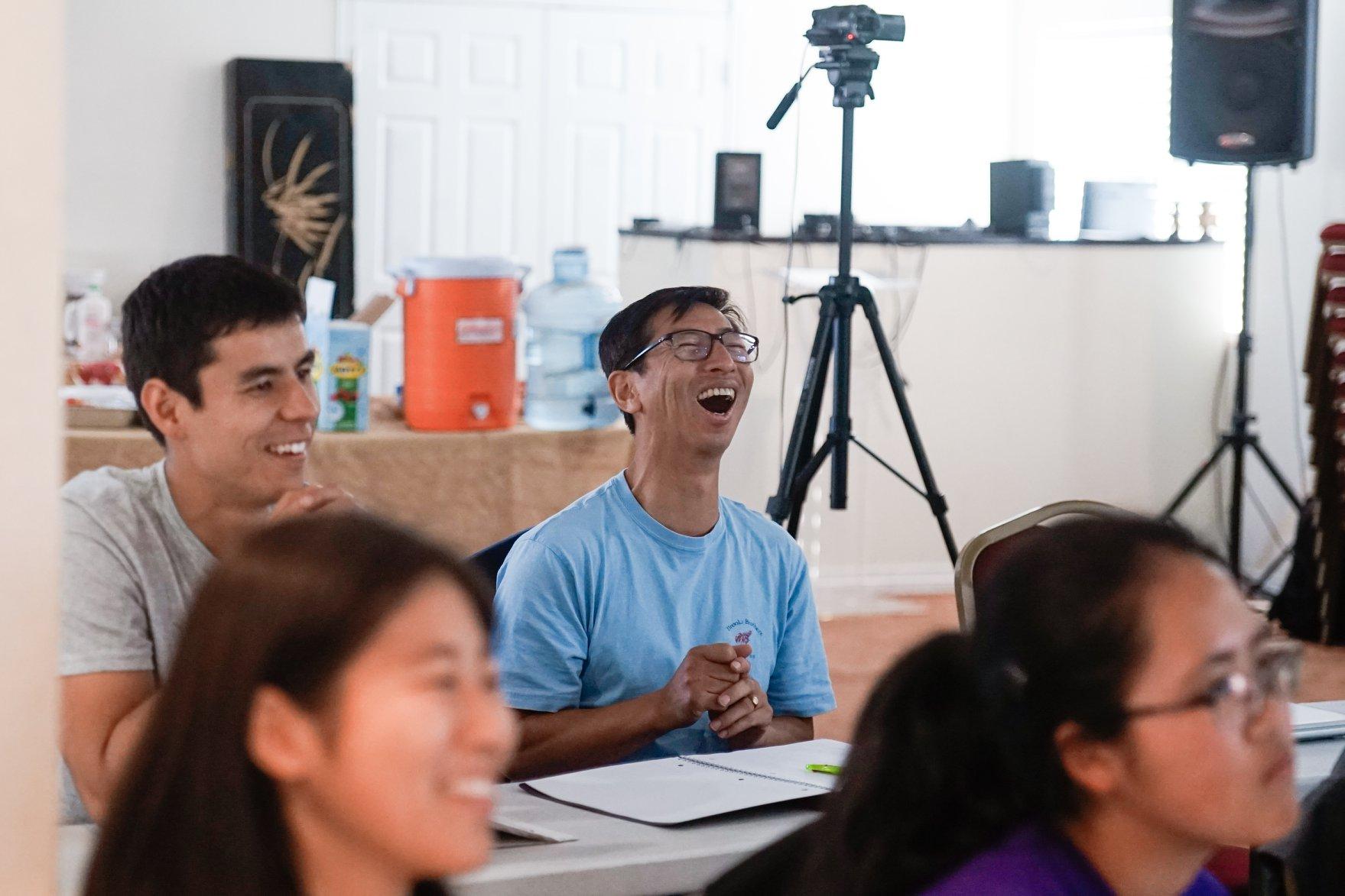 CARP Mentor, Akira Watanabe, has a great time at the retreat.