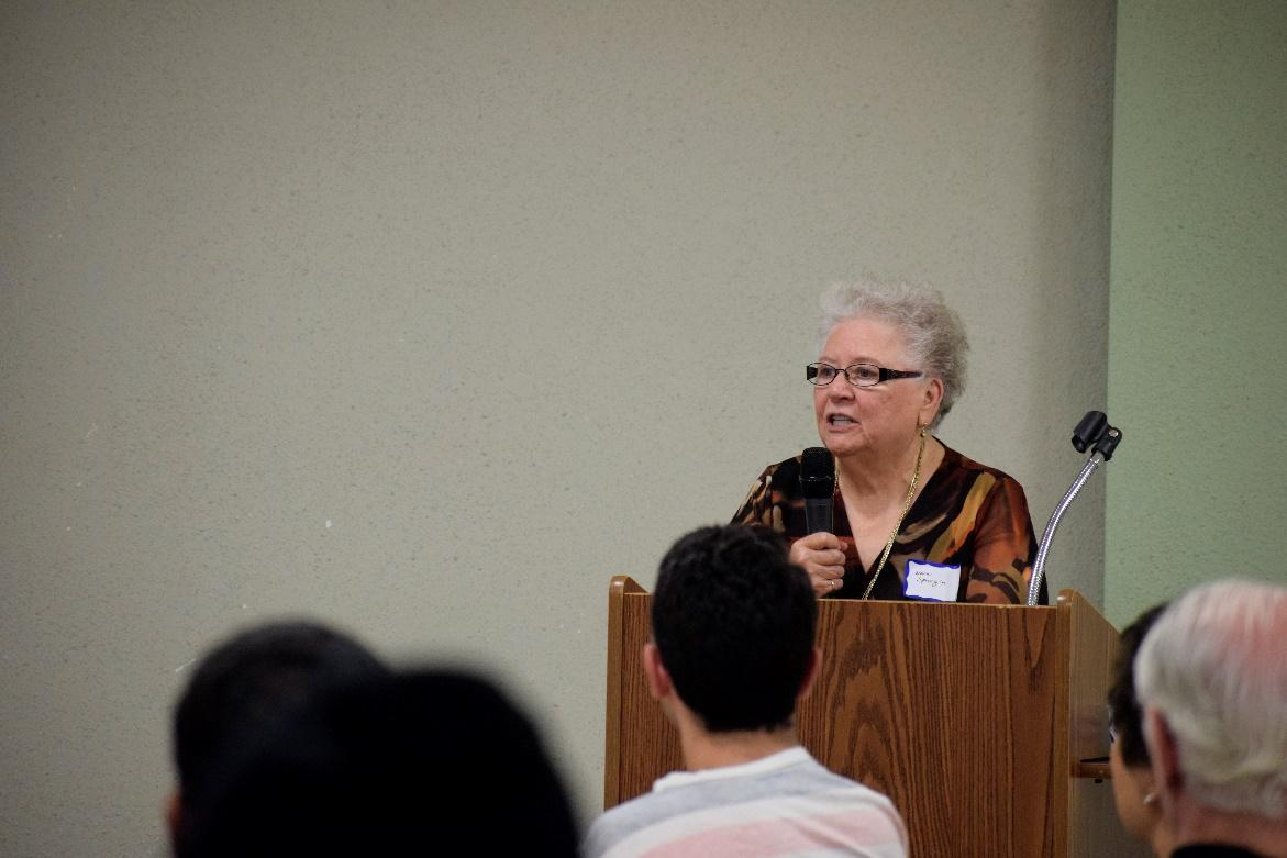 Mrs. Nora Spurgin gave the Unificationist view of spirit world.