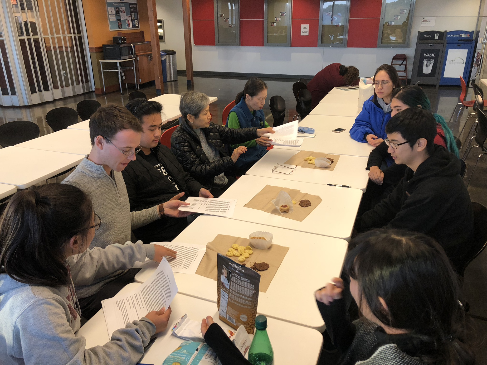 CARP IUPUI talks begins their meetings with snacks and an icebreaker.