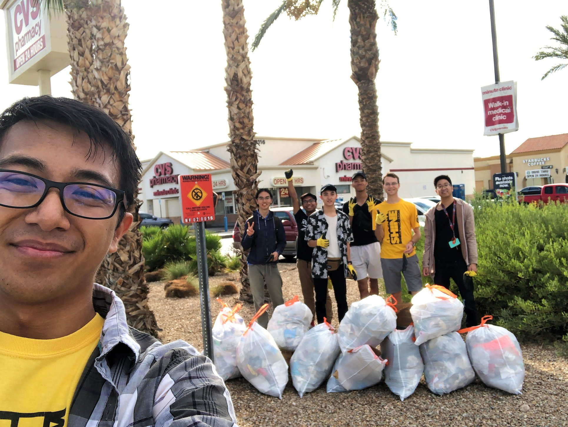 Taken October 6, 2018. After months of being inactive, Shine City Project clean-ups were revived with a service project near a local CVS Pharmacy.