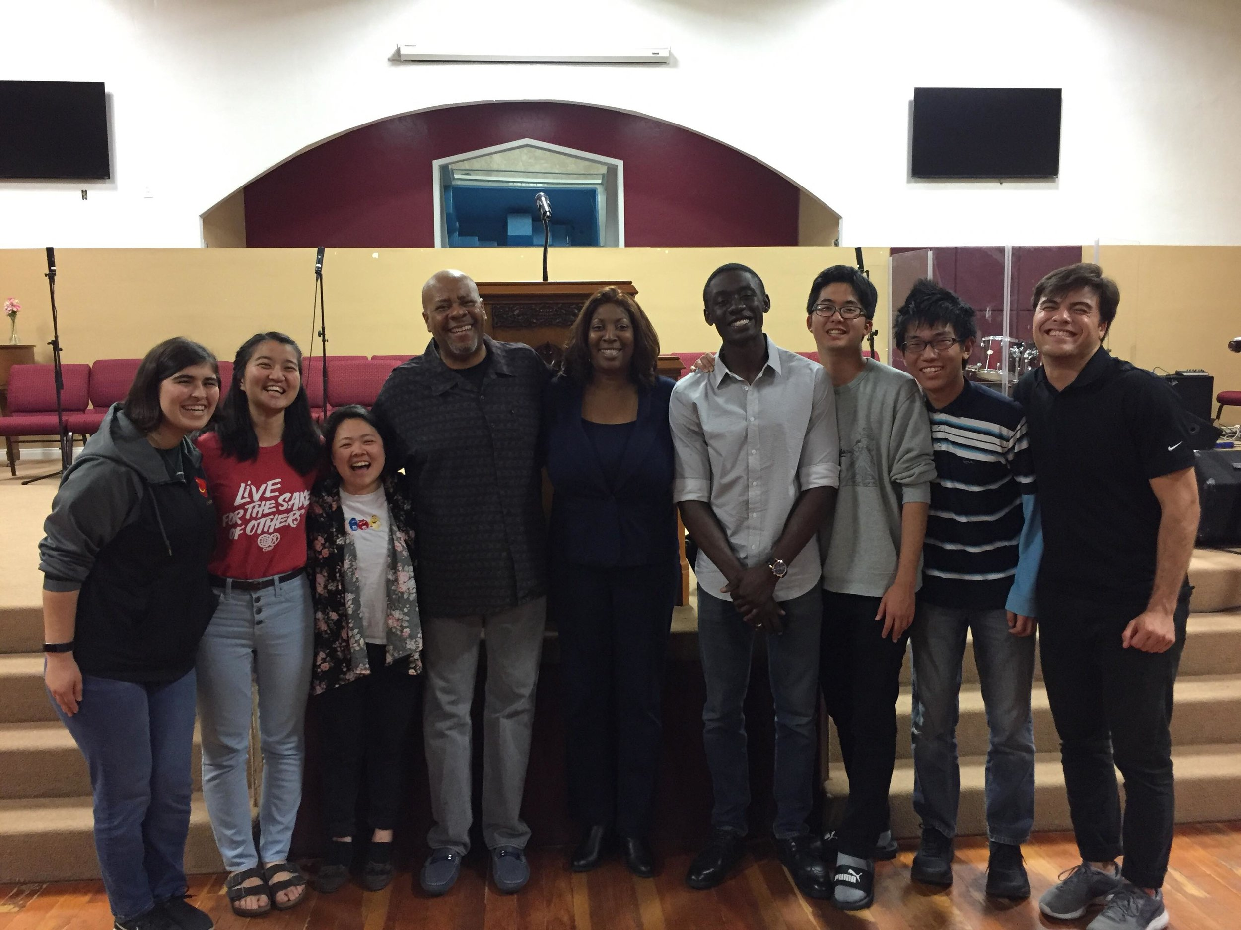 CARP LA members went to churches on Sundays and during the week to visit pastors and youth groups.