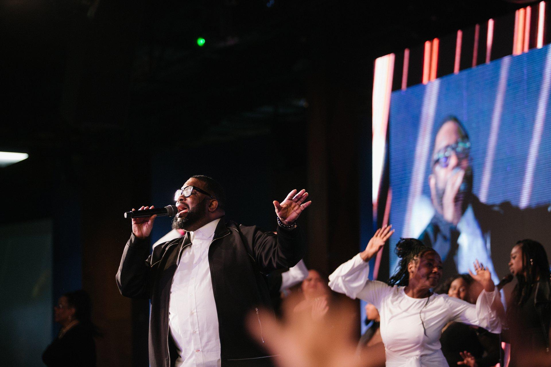 Bishop Hezekiah Walker gave a powerful closer.