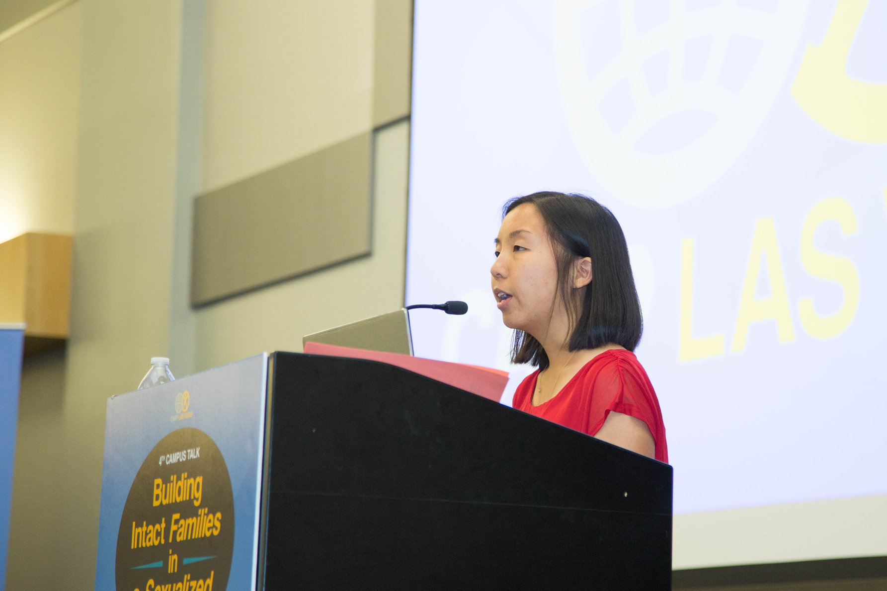 Kailey Teo shared the student perspective.