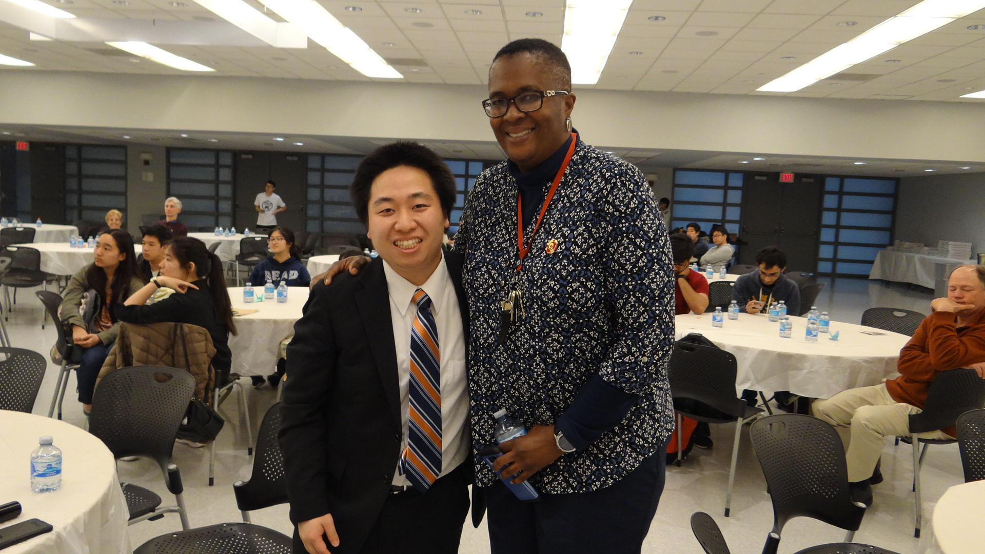Takafumi Mashiko (left) with Dr. Marybeth Boger (right), Dean of Students.