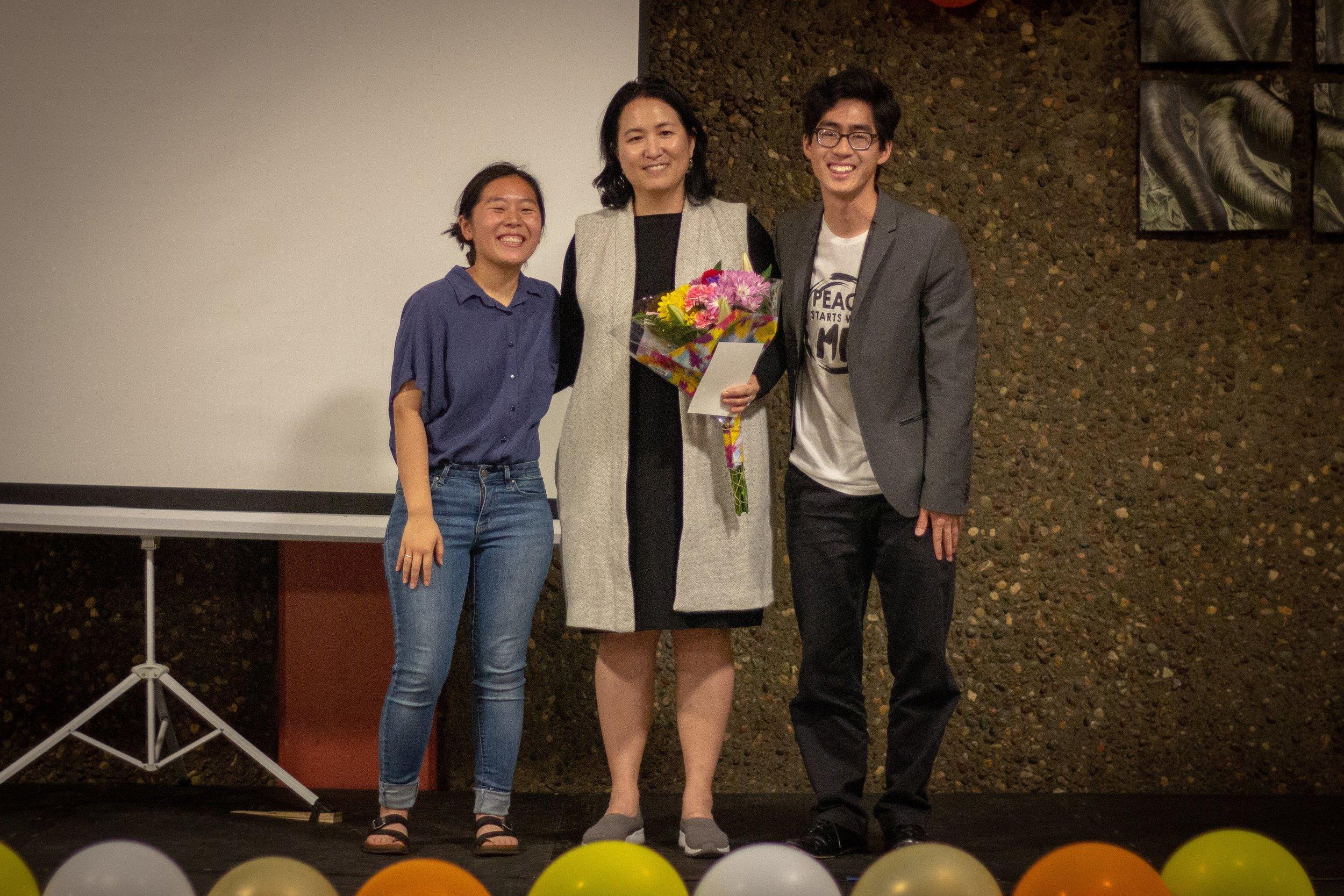 CARP Bay Area honored their faculty advisor, Professor Ukudeeva.