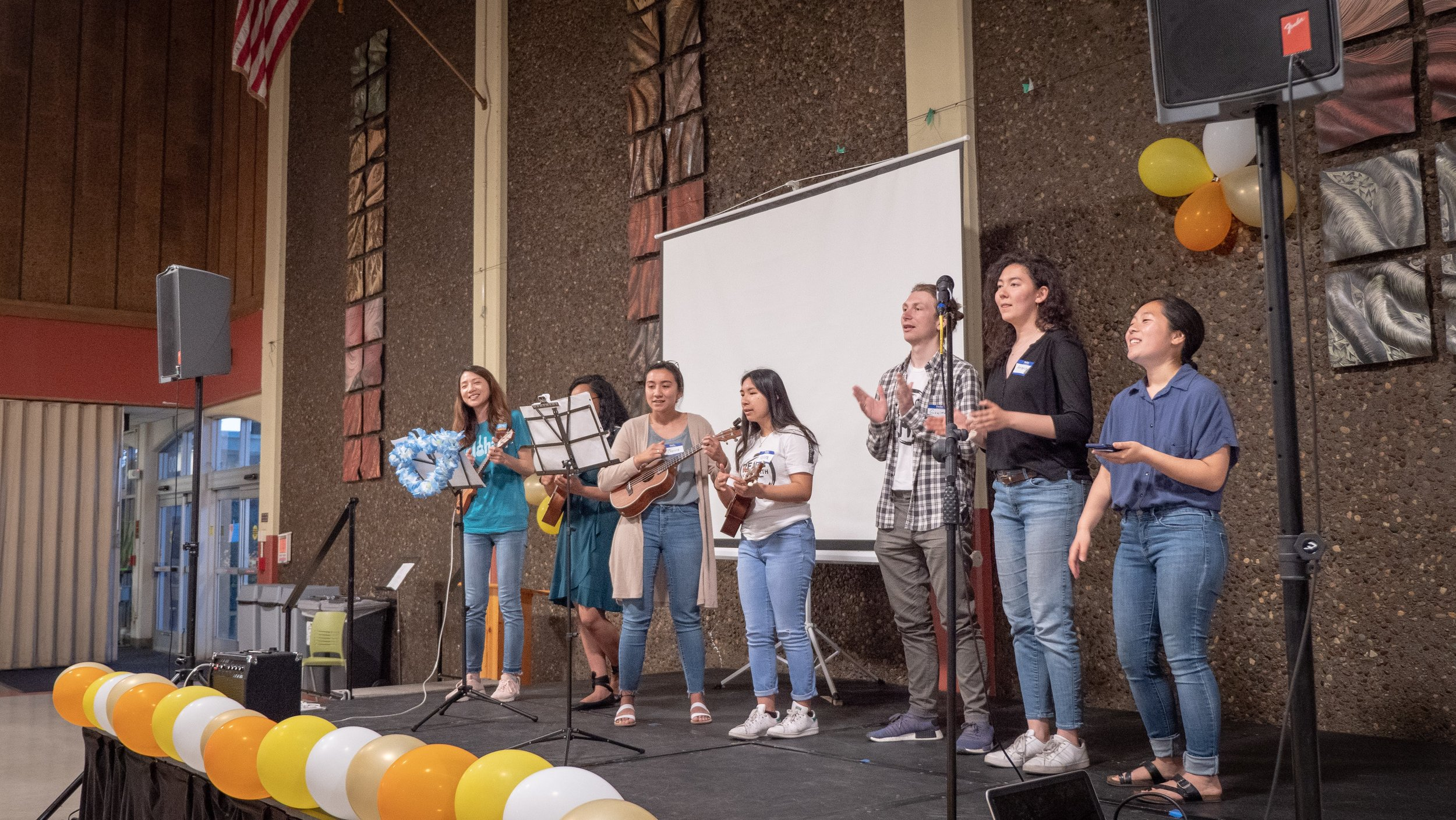 The Chabot ukulele club and CARP performed two closing songs.