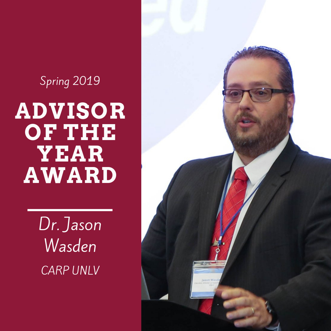Spring 2019 Awards - Advisor of the Year - Dr. Wasden.png