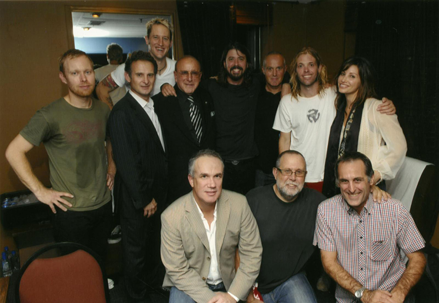 With Clive Davis and Foo Fighters
