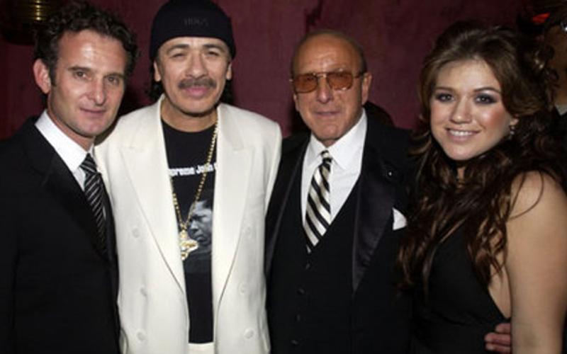 WIth Santana, Clive Davis, Kelly Clarkson