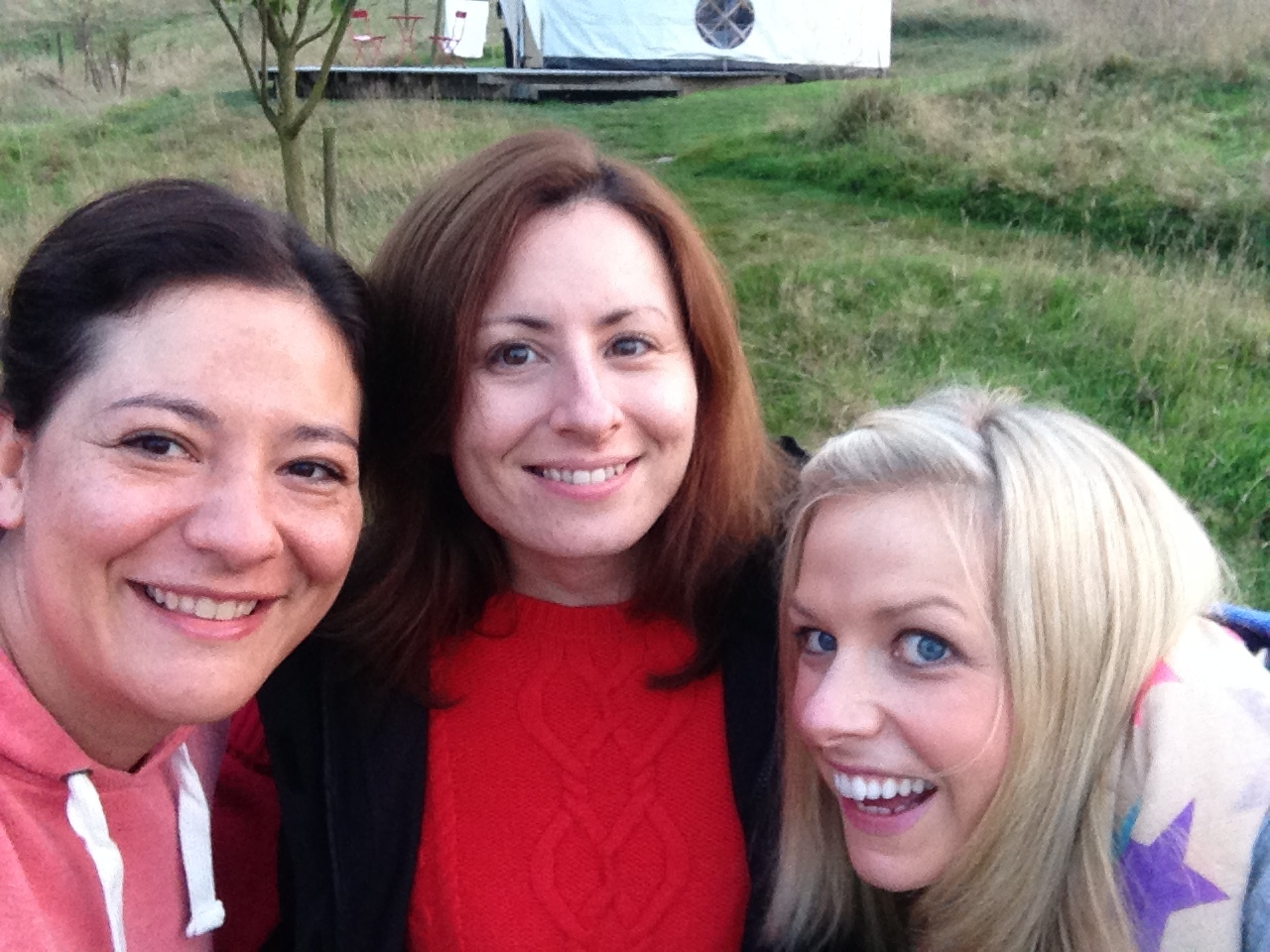 On my first yoga retreat in Cornwall, with Shine Yoga. These are my yurt buddies, who I didn't know before but who I shared sooooo many laughs with!