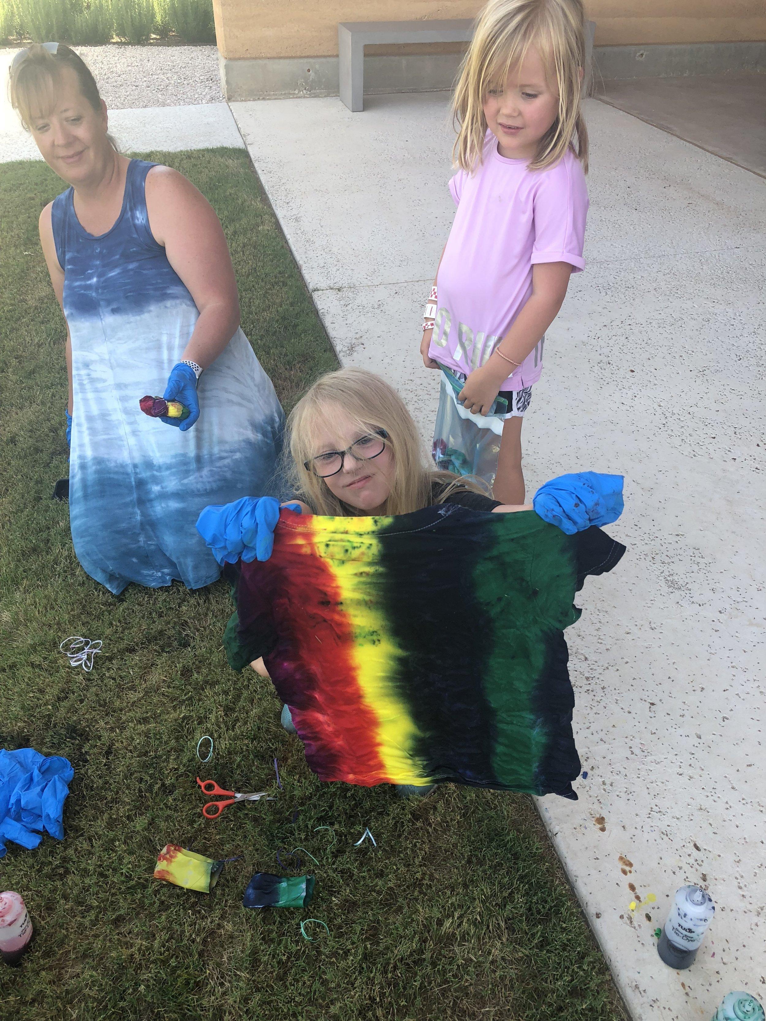 Kid's Tie Dye Crafts