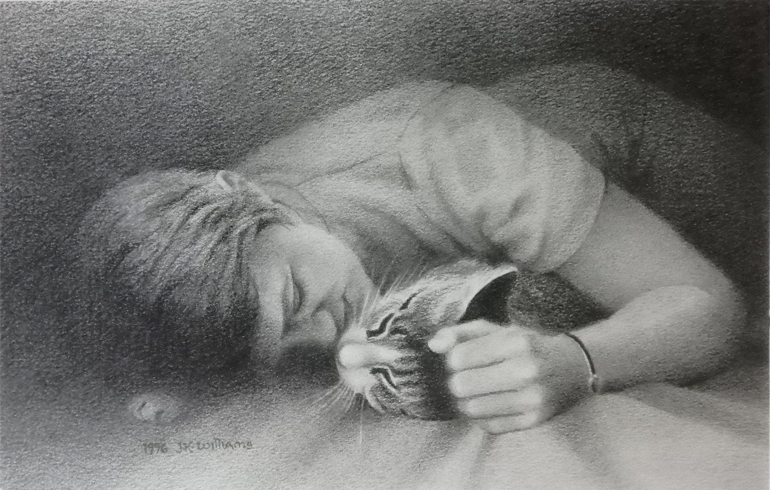 """""""The Sweetest Nap""""  Graphite 7 1/4"""" x 12"""""""