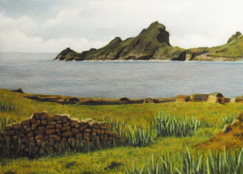 """Village Bay View of Dun""  Oil 5"" x 7"""