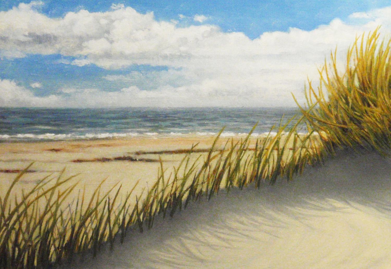 """""""Machair Beach, North Uist"""" Oil 5"""" x 7"""""""