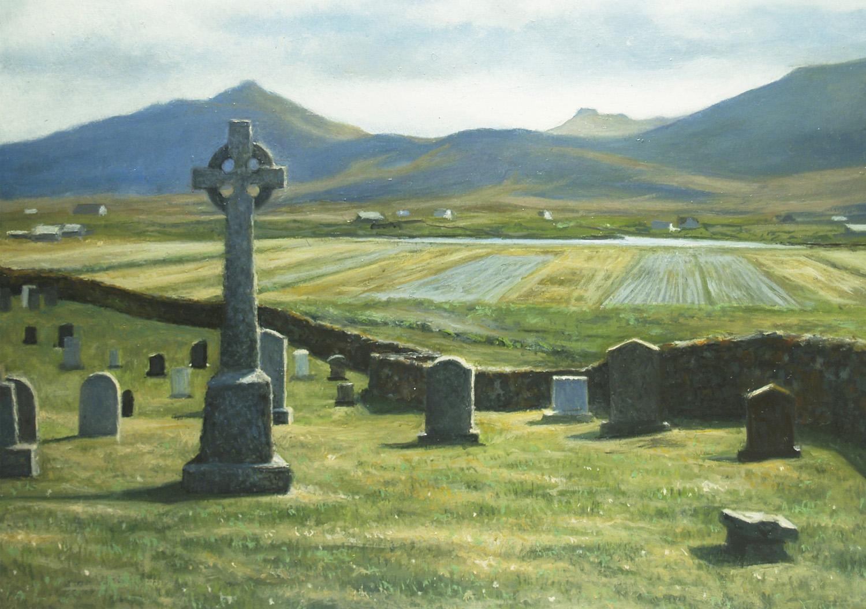 """St. Michael's Cemetery""  Oil 5"" x 7"""