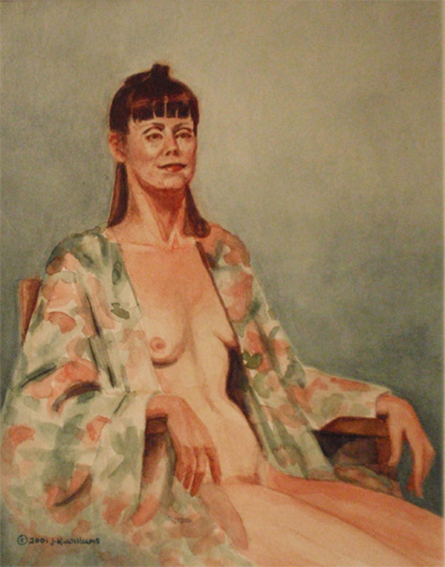 """Silk Robe""  Watercolor          x"
