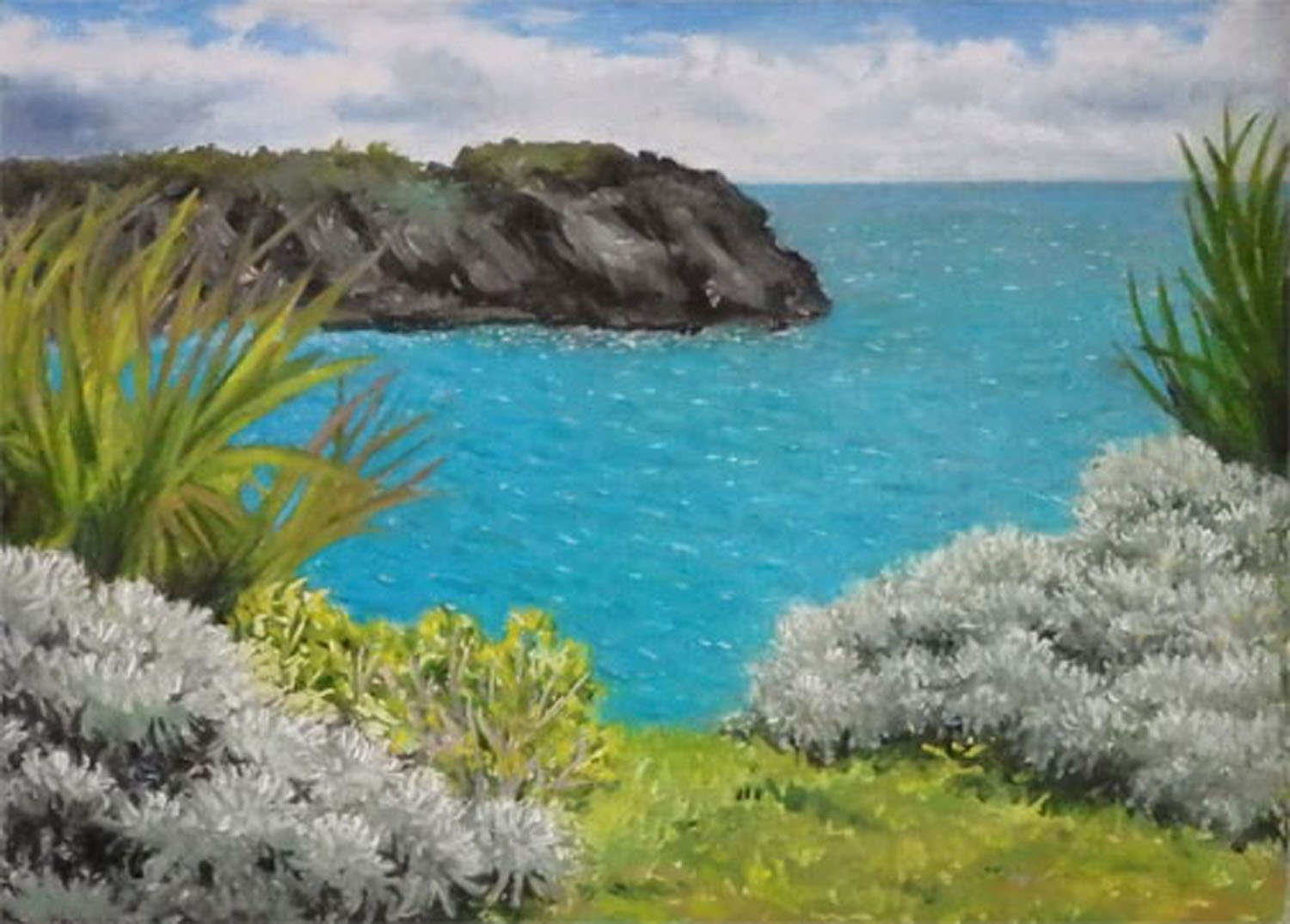 """""""View from Castle Point""""  Oil 5""""x 7"""""""
