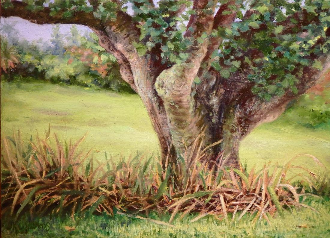"""Garden Tree""    Oil 5""x 7"""