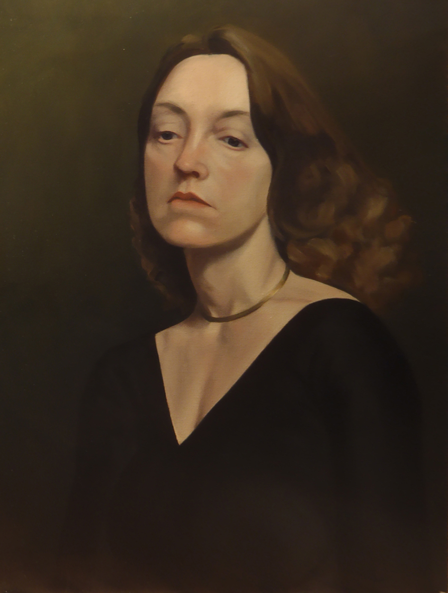 """Woman Wearing a Gold Necklace""   Oil  24"" x 18"""
