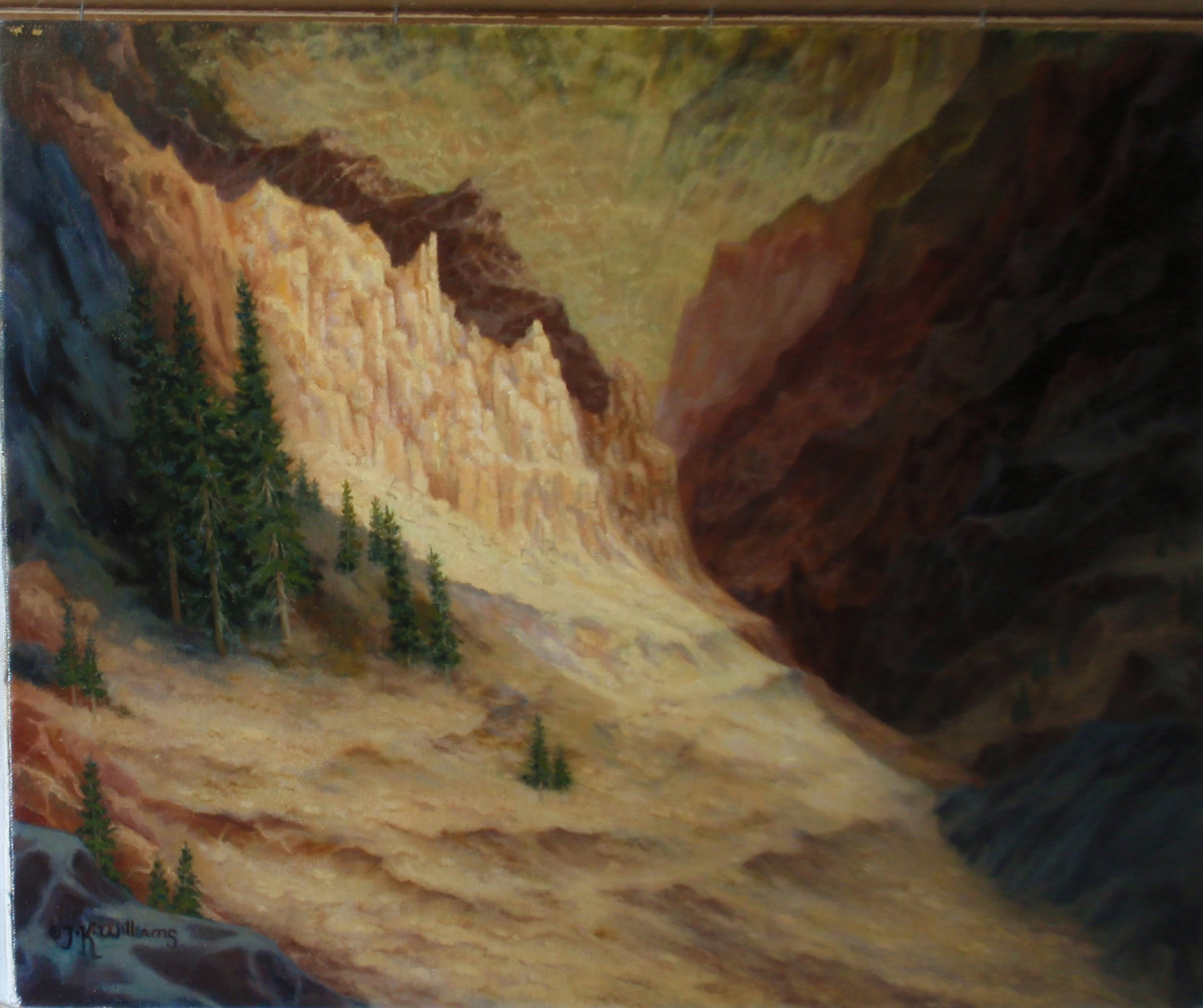 """Canyon Afternoon""    Oil 16"" x 20"""
