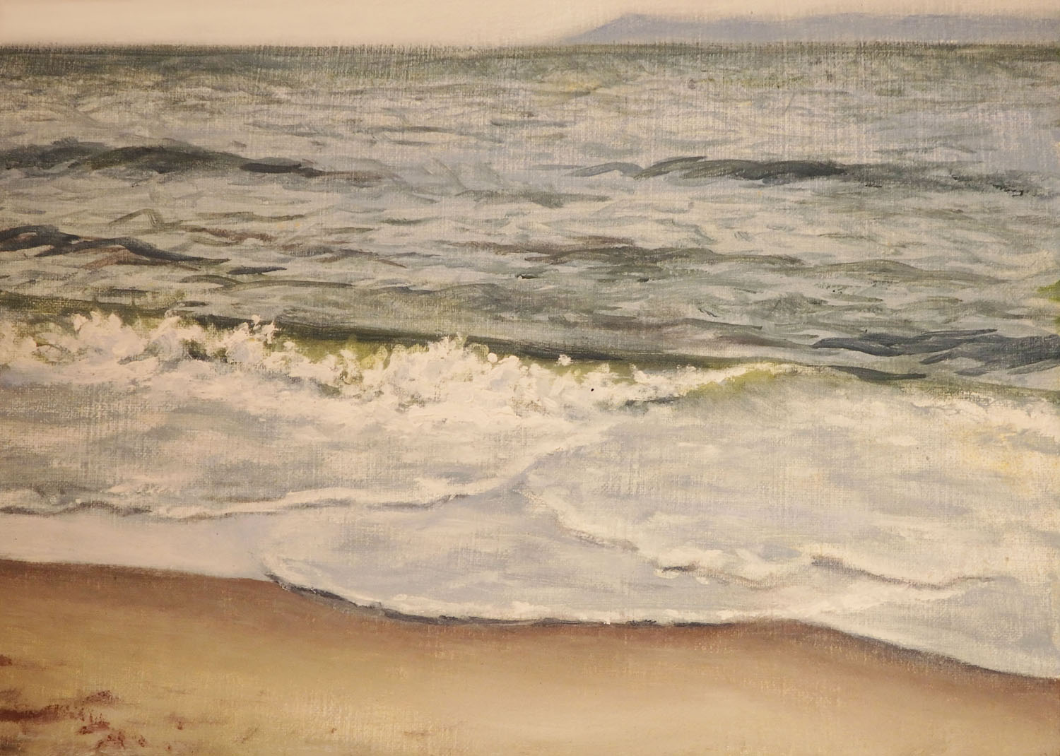 """Beach at Coney Island""    Oil 5""x 7"""