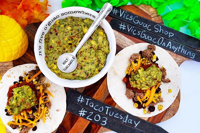 For sure our favorite day of the week! #tacotuesday • • Make sure you head over to one of our retail stores to pick up some guac just in time for the 4th! • • • #vicsguacshop #theguacthathitsthespot #vicsguaconanything