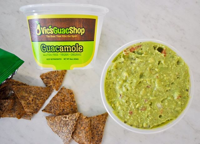 "Have you gotten a glimpse of our new containers yet? • • • Labeled with our ingredients, nutrition facts & of course our awesome slogan ""The Guac That Hits The Spot"" 🥑👍🏽 • • • Pick up your Guac today! Visit our website to see where you can purchase! • • • #theguacthathitsthespot #vicsguacshop #vicsguaconanything"