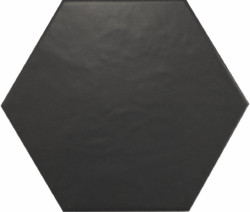 Black Matte Hexagon