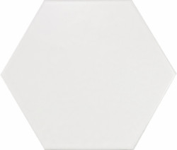 White Matte Hexagon