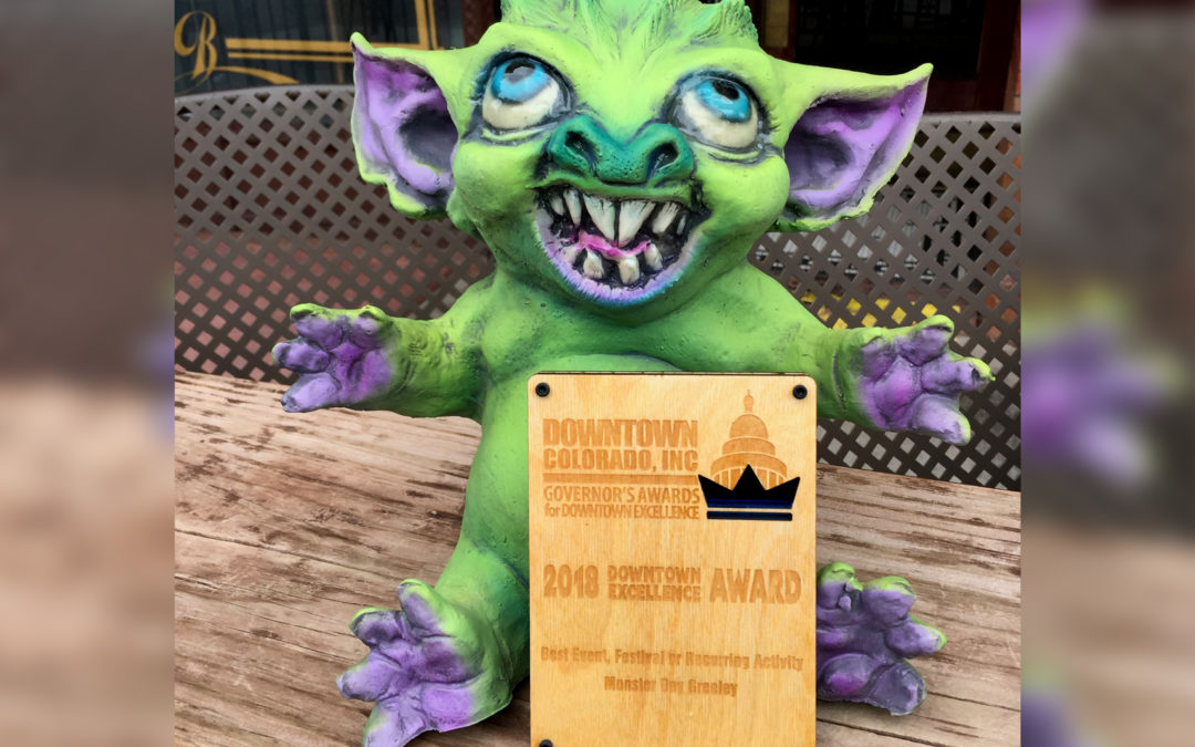 The Greeley Gremlin with his award!