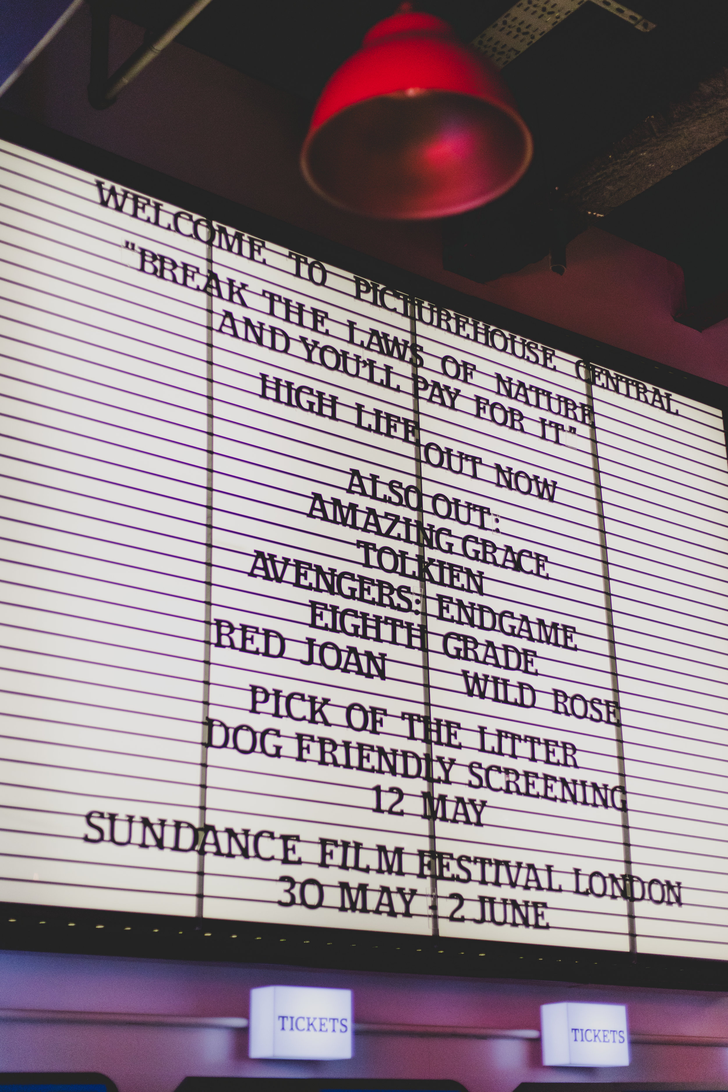 Film Listing, Picturehouse Central Cinema