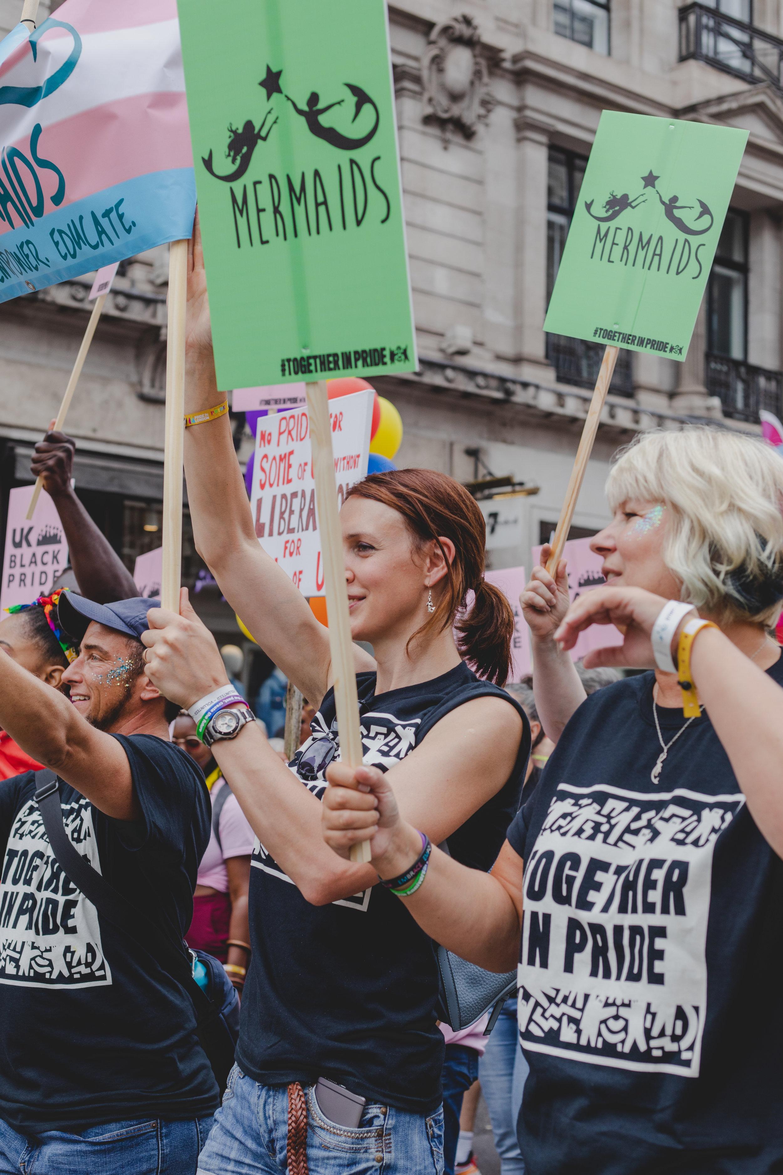 Pride in London 2019 - UK Black Pride, Mermaids and Stonewall