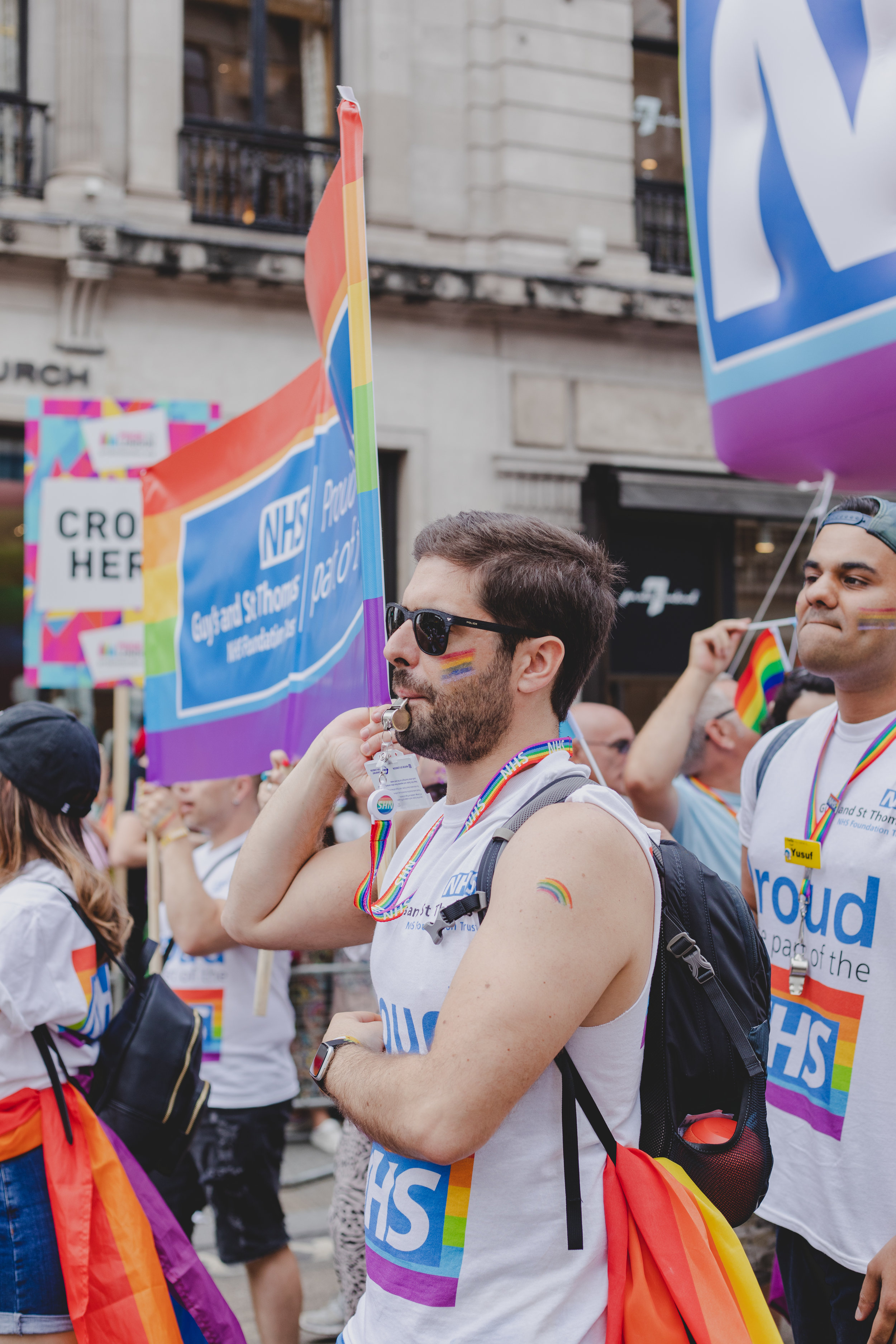 Pride in London 2019 - Guys and St Thomas Hospital