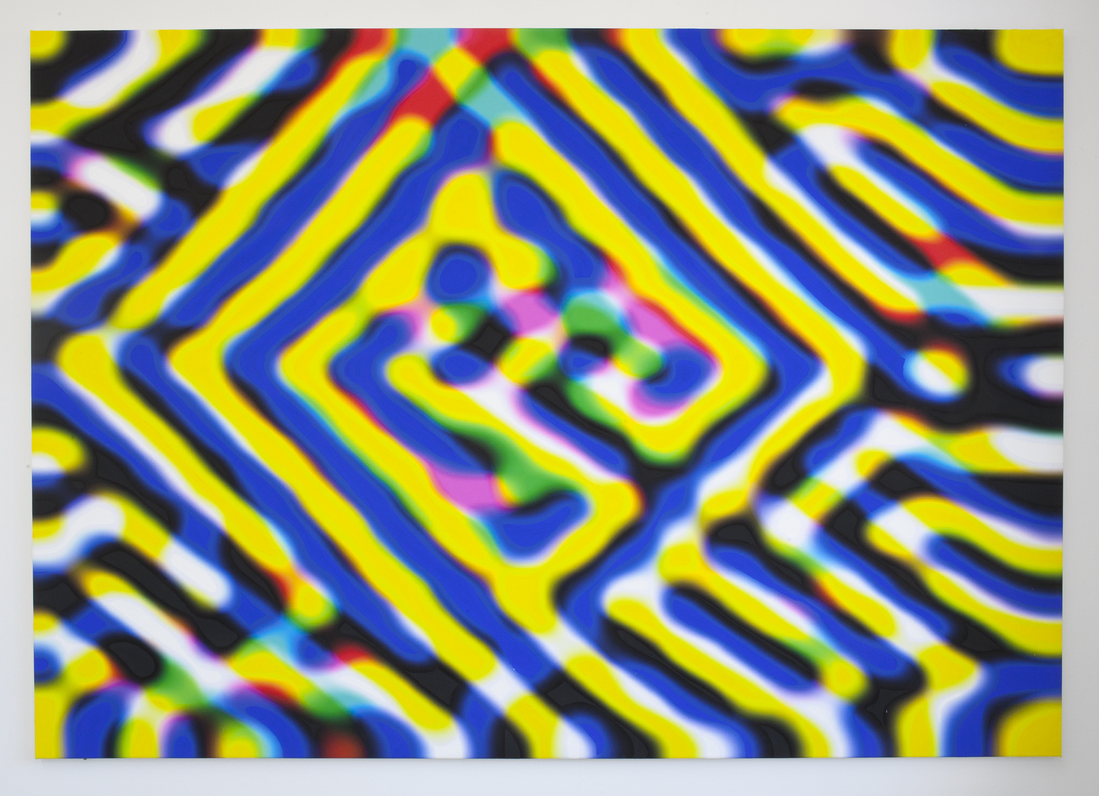 Monitored, 140 x 200, inkjet print, pigment, kasein.