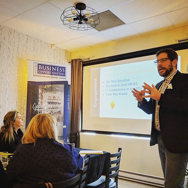 Thanks to #MBObusiness client Chad Decker of @peoplestuffnl for presenting at today's Lunch-N-Learn with the Mount Pearl-Paradise Chamber of Commerce! It was a full house for the Employee Engagement session, and everyone left with great tools and an 8 week plan for success!  #MBObusiness #MBOclient #MBOC #StartOrGrow #Door2Opportunity #ImpactAtlantic #ImpactYour #MoreThanAStartUpLoan #SmallBiz #SmallBusiness #HumanResources #EmployeeEngagement #BusinessSkills #StartUp #ChamberOfCommerce #MountPearl #StJohns #YYT #709 #NewfoundlandLabrador