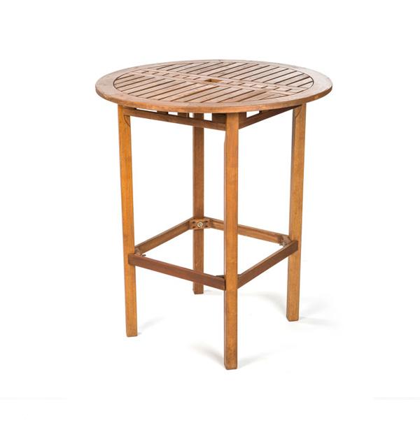 HIGH TOP TEAK ROUND TABLE