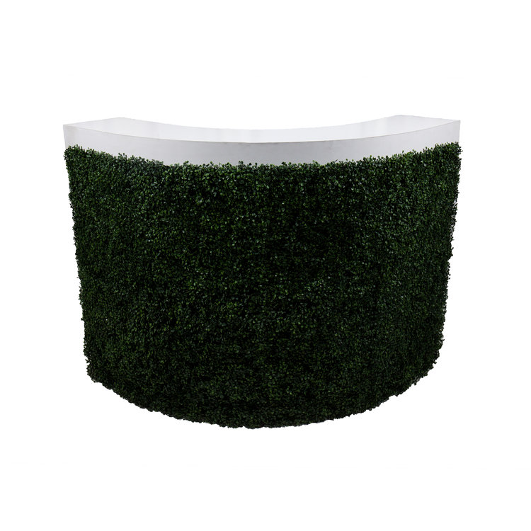 CURVED FORMICA BAR W/ HEDGE
