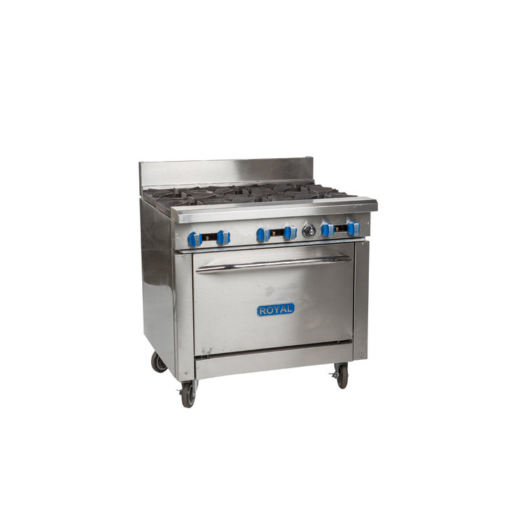 COMMERCIAL OVEN W/ 6 BURNERS