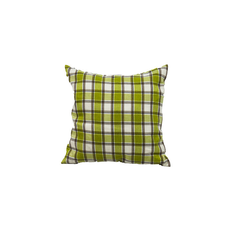 LIME GREEN/CHOCOLATE CHECKERED
