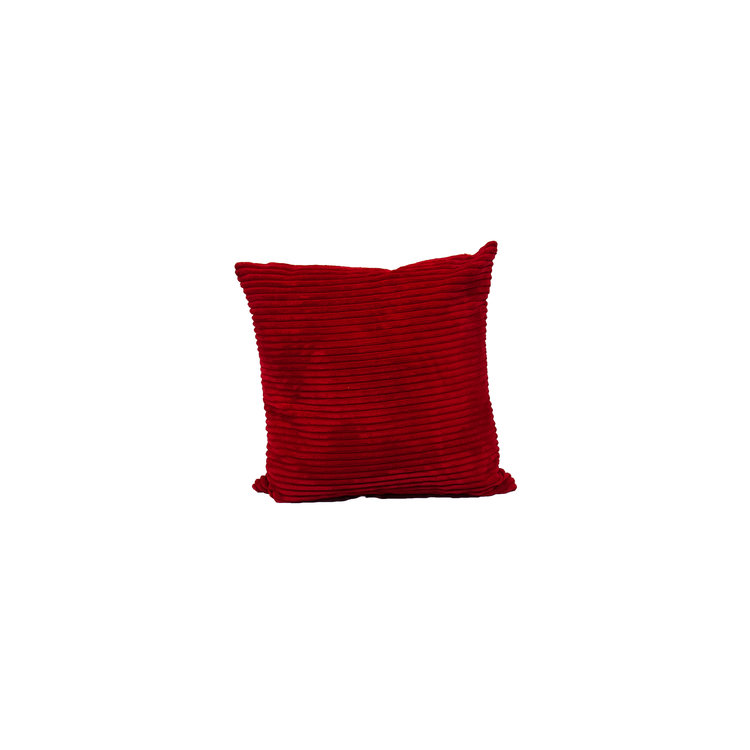 """SOLID RED CORDUROY 20"""" SQ"""